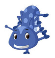 a cute blue caterpillar cartoon vector image