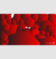 abstract background hexagon red light and shadow vector image