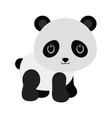 adorable baby panda in flat style vector image vector image