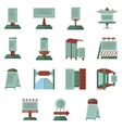 Advertisement flat color icons vector image