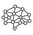 ai neuron brain icon outline style vector image