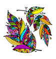 art feather for your design vector image vector image