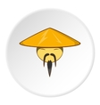 Asian man in hat icon cartoon style vector image vector image
