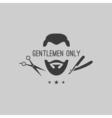 Barber logo elements vector image vector image