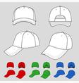 Baseball tennis cap vector image vector image