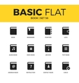 basic set book icons vector image