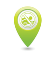 beach closed symbol green map pointer vector image vector image