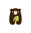 bear cub baleaf logo icon vector image vector image