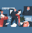 big corporation boss vector image vector image