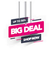 big deal sale banner template design vector image vector image