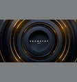 black circle shapes with golden stripes vector image