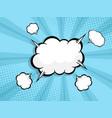 blank speech bubble comic book pop art vector image vector image