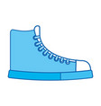 blue icon boot cartoon vector image
