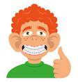 boy show braces vector image vector image