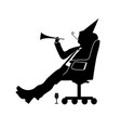 businessman silhouette a man will celebrate vector image vector image