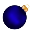 Christmas blue ball on a white background vector image