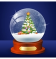 Christmas winter landscape globe vector image vector image
