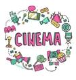 Cinema Design Concept vector image vector image