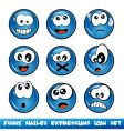 comic expressions vector image vector image