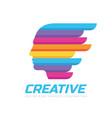 creative idea - concept logo template vector image vector image