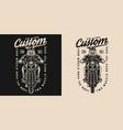 custom motorcycle vintage badge vector image