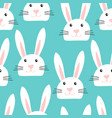 cute seamless pattern with white easter bunny vector image