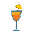 delicious cocktail cup vector image vector image