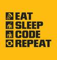 eat sleep code repeat vector image