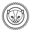 emblem cat hunter city icon vector image vector image