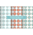 Ethnic oriental geometric seamless patterns vector image vector image