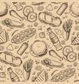 fast food hand drawn vintage backdrop vector image vector image