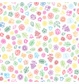 floral icon seamless pattern flowers and leaves vector image vector image