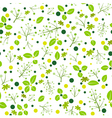 Flower and leaf green pattern seamless vector image vector image