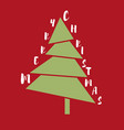 funny christmas tree vector image