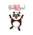 funny panda says thank you in vector image
