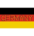 German flag and word Germany vector image vector image