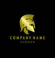 gladiator gold logo black background vector image vector image