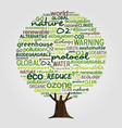 green tree made of eco friendly text quotes vector image