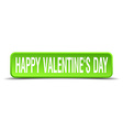happy valentines day green 3d realistic square vector image vector image
