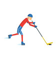 hockey player 02 vector image