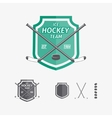 Hockey sports emblems and symbols for team logo vector image vector image