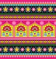 indian truck art floral seamless folk art pattern vector image
