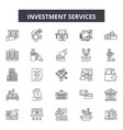 investment services line icons signs set vector image vector image