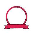 label banner badge empty ribbon emblem vector image vector image