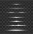 light dividers line flare glowing borders white vector image vector image
