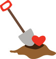 Love Shovel vector image vector image