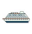 luxury cruise ship vector image