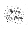 Merry Christmas handwritten brush lettering vector image vector image