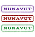 nunavut watermark stamp vector image vector image