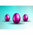 original easter design template with glossy 3d vector image vector image
